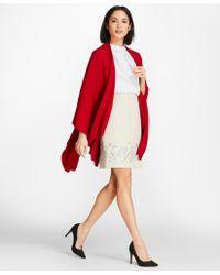 Brooks Brothers - Scallop-edged Merino Wool-blend Wrap - Lyst