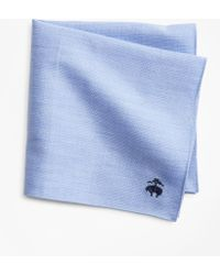 Brooks Brothers - Cotton Dobby Pocket Square - Lyst
