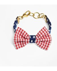 Brooks Brothers - Kiel James Patrick Gingham And Polka Dot Bow Tie Bracelet - Lyst