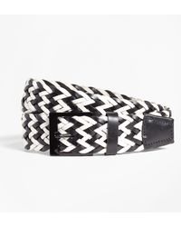 Brooks Brothers - Two-tone Woven Leather Belt - Lyst