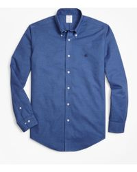 Brooks Brothers - Non-iron Regent Fit Heathered Oxford Sport Shirt - Lyst