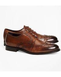 Brooks Brothers 1818 Footwear Leather Wingtips - Brown