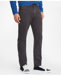 Brooks Brothers - Five-pocket Garment-dyed Jeans - Lyst