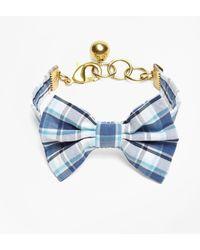 Brooks Brothers - Kiel James Patrick Seersucker Plaid Bow Tie Bracelet - Lyst