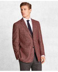 Brooks Brothers Golden Fleece Brookscloudtm Wool-blend Basketweave Sport Coat - Red