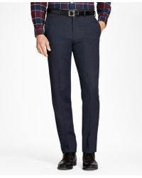 Brooks Brothers | Regent Fit Whipcord Wool Trousers | Lyst