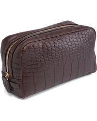 Brooks Brothers - Crocodile Travel Kit - Lyst