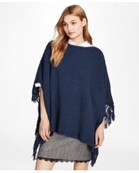 Brooks Brothers - Wool-blend Poncho - Lyst