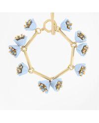 Brooks Brothers Flower Bracelet - Metallic