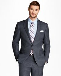 Brooks Brothers | Regent Fit Saxxon Wool Bird's-eye 1818 Suit | Lyst