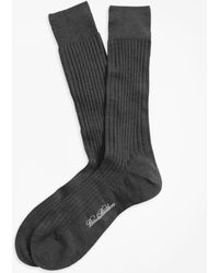 Brooks Brothers | Merino Wool Ribbed Crew Socks | Lyst