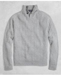 Brooks Brothers - Golden Fleece® 3-d Knit Saxxontm Reserve Button Mockneck Jumper - Lyst