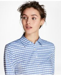 Brooks Brothers - Gingham Dobby Cotton Shirt - Lyst