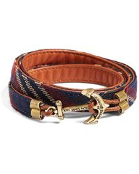 Brooks Brothers Kiel James Patrick Signature Tartan Wrap Bracelet - Blue