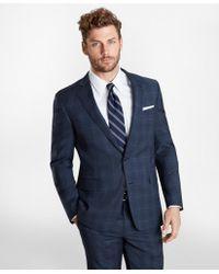 Brooks Brothers Regent Fit Plaid 1818 Suit - Blue