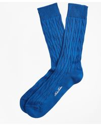 Brooks Brothers - Cable Crew Socks - Lyst
