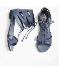 Brooks Brothers | Leather Lace-up Sandals | Lyst