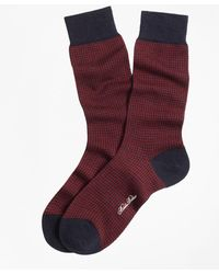 Brooks Brothers - Houndstooth Crew Socks - Lyst