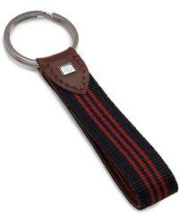 Brooks Brothers Stripe Key Fob - Blue