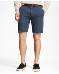 Brooks Brothers - Chambray Stripe Shorts - Lyst