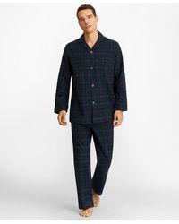 Brooks Brothers Tartan Flannel Pajamas - Green