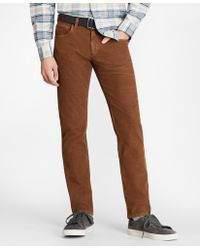 Brooks Brothers - Garment Dyed Five-pocket Corduroys - Lyst