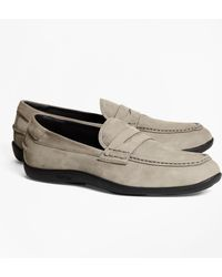 Brooks Brothers - 1818 Footwear Suede Penny Moccasins - Lyst