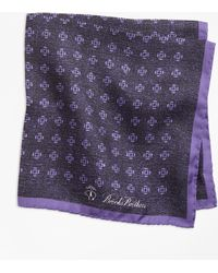 Brooks Brothers - Geo Rose Pocket Square - Lyst