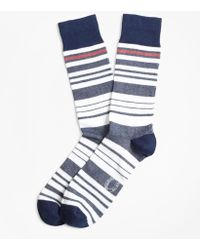 Brooks Brothers - Variegated Stripe Crew Socks - Lyst