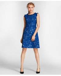 Brooks Brothers - Ruffle-trim Floral Lace Dress - Lyst