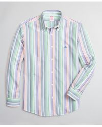 Brooks Brothers Luxury Collection Madison Relaxed-fit Sport Shirt - Blue