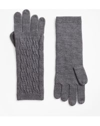 Brooks Brothers - Cable-knit Merino Wool Gloves - Lyst