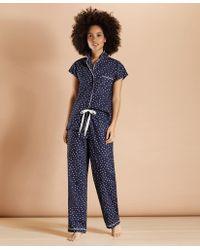 Brooks Brothers Heart-print Supima Cotton Poplin Pajamas - Blue