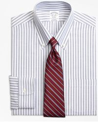 Brooks Brothers - Non-iron Milano Fit Brookscool® Ground Split Stripe Dress Shirt - Lyst