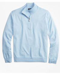 Brooks Brothers - Supima® Cotton Half-zip Sweater - Lyst