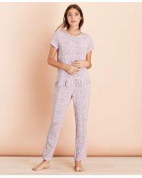 Brooks Brothers Floral-print Jersey Pajama Set - Pink