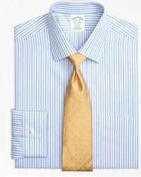 Brooks Brothers - Milano Slim-fit Dress Shirt, Non-iron Tonal Bengal Stripe - Lyst