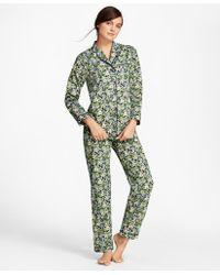 Brooks Brothers - Floral-print Cotton Poplin Pyjama Set - Lyst