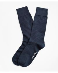 Brooks Brothers - Polka Dot Over-the-calf Socks - Lyst