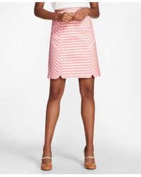Brooks Brothers - Gingham Double-weave Skirt - Lyst