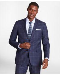 Brooks Brothers Brooksgatetm Regent-fit Windowpane Wool Twill Suit Jacket - Blue