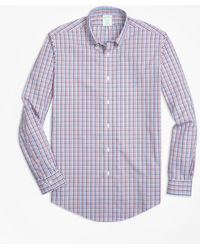 Brooks Brothers - Non-iron Regent Fit Three-color Gingham Sport Shirt - Lyst
