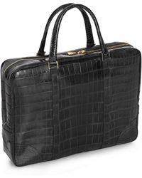 Brooks Brothers - Soft Alligator Briefcase - Lyst