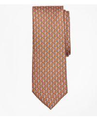 Brooks Brothers Fox And Leaf Print Tie - Orange