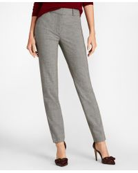 Brooks Brothers - Mini Houndstooth Stretch Wool Slim-fit Ankle Pants - Lyst