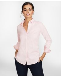 Brooks Brothers Non-iron Stretch Supima Cotton Fitted Dress Shirt - Pink