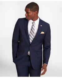 Brooks Brothers Regent Fit Plain Weave 1818 Suit - Blue