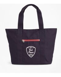 Brooks Brothers - Red Fleece Nyc Canvas Tote Bag - Lyst
