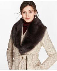 Brooks Brothers - Toscana Shearling Scarf - Lyst