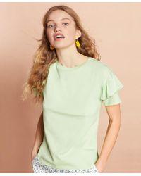 Brooks Brothers - Ruffled T-shirt - Lyst